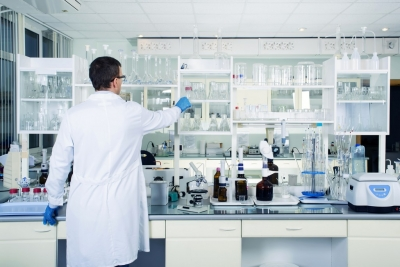 interior of clean modern medical laboratory